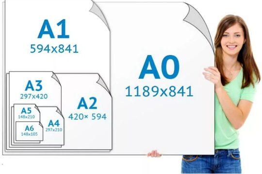 Сколько листов бумаги формата получится