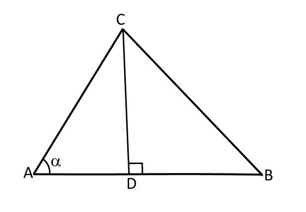 Треугольник АВС к следствию теоремы косинусов