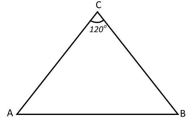 Треугольник к задаче на теорему косинусов 2