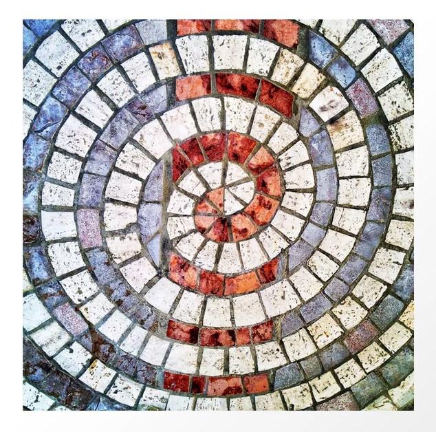 Мозаика на основе спирали Архимеда