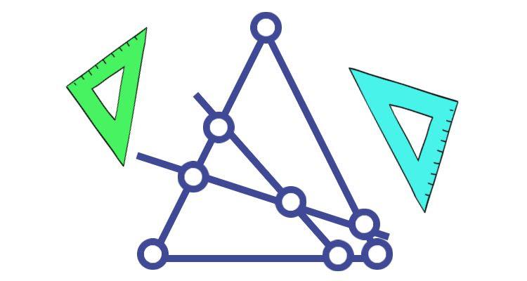 Или еще так можно разрезать треугольник