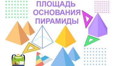 Площадь основания пирамиды