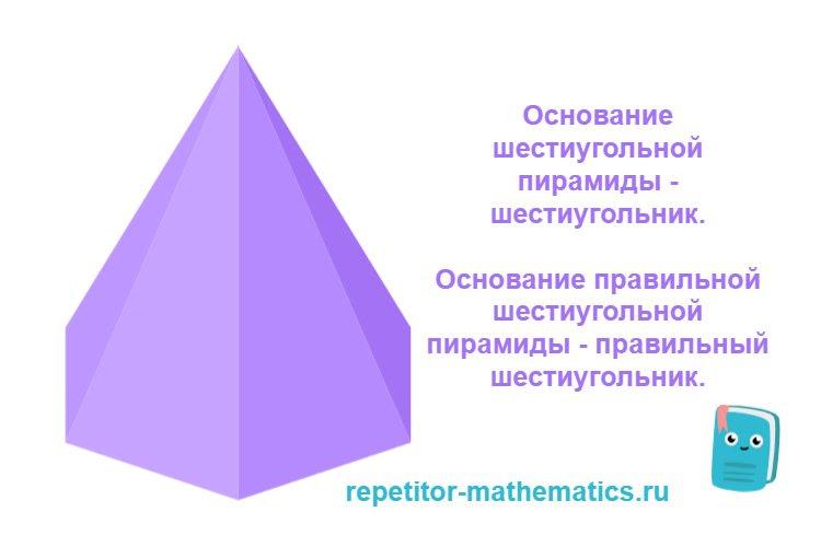 Основание шестиугольной пирамиды